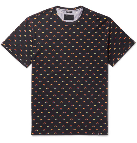 marc jacobs male marc jacobs oversized studded rainbowprint cottonjersey tshirt black