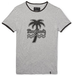 Marc Jacobs Slim-Fit Printed Mélange Cotton-Jersey T-Shirt