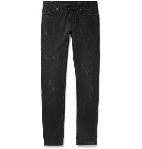 marc jacobs male marc jacobs skinnyfit distressed washeddenim jeans black