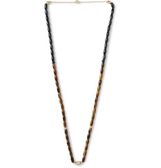 Luis Morais Gold Tiger's Eye Necklace