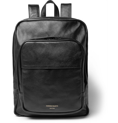 0c4f3c3cf Common Projects Cross-Grain Leather Backpack In Black