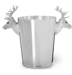 Asprey - Sterling Silver Stag Head Champagne Cooler
