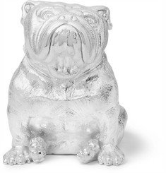 Asprey Sterling Silver Bulldog Money Bank