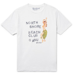Hartford - Slim-Fit Printed Slub Cotton-Jersey T-Shirt