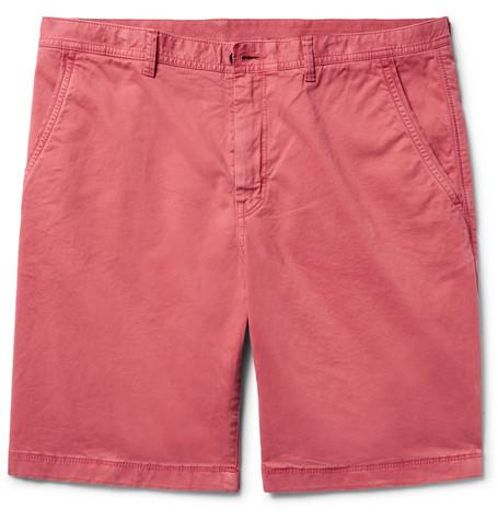 michael kors male michael kors stretchcotton twill chino shorts brick