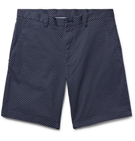 michael kors male michael kors polkadot stretchcottontwill shorts midnight blue