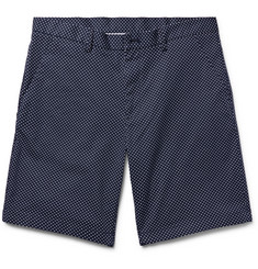 Michael Kors Polka-Dot Stretch-CottonTwill Shorts