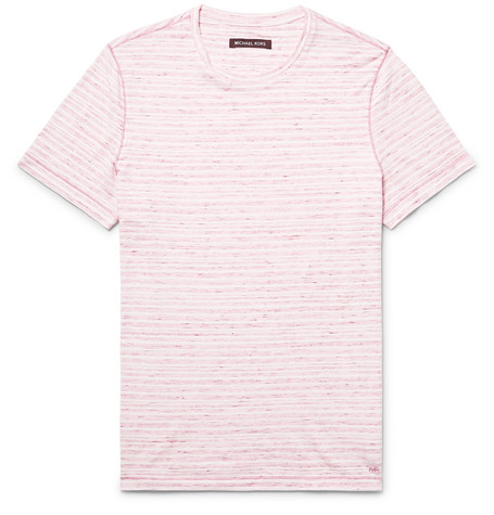 michael kors male michael kors slimfit spacedyed knitted cotton tshirt red