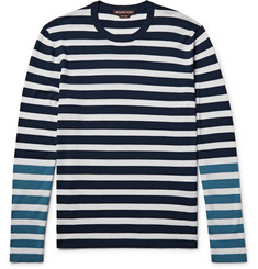 Michael Kors Colour-Block Striped Merino Wool T-Shirt