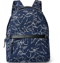 Michael Kors Leather-Trimmed Printed CORDURA Backpack