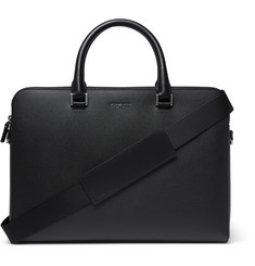 Michael Kors Harrison Cross-Grain Leather Briefcase