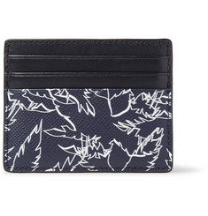 Michael Kors Printed Cross-Grain Leather Cardholder