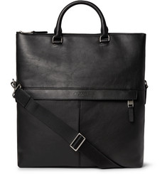Michael Kors - Fold-Over Full-Grain Leather Tote Bag