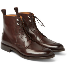 O'Keeffe - Algy Split-Toe Weatherproof Polished-Leather Boots