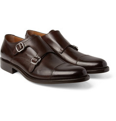 O'Keeffe - Cap-Toe Polished-Leather Monk-Strap Shoes