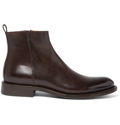 O'Keeffe Polished-Leather Chelsea Boots