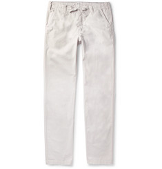 Hartford - Slim-Fit Drawstring Cotton Trousers