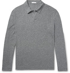 James Perse Mélange Cotton-Blend Polo Shirt