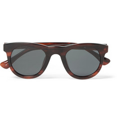 Dries Van Noten + Linda Farrow Square-Frame Acetate Sunglasses