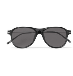 Dries Van Noten + Linda Farrow Round-Frame Acetate and Silver-Tone Sunglasses