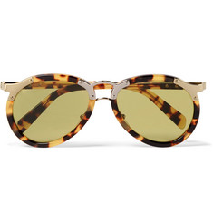 Prada Aviator-Style Tortoiseshell Acetate and Gold-Tone Sunglasses