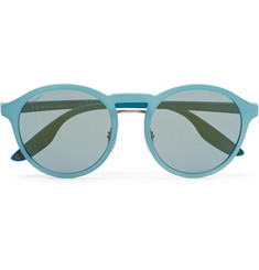 Prada Round-Frame Rubberised-Acetate Sunglasses
