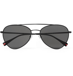 Prada Aviator-Style Metal Sunglasses