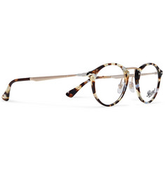 Persol - Round-Frame Tortoiseshell Acetate and Gold-Tone Optical Glasses