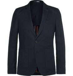 PS by Paul Smith Blue Slim-Fit Unstructured Linen and Cotton-Blend Blazer