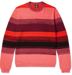 PS by Paul Smith Striped Textured-Cotton Sweater