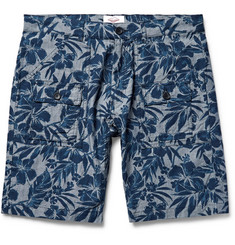 Battenwear Tropical-Print Cotton Oxford Shorts
