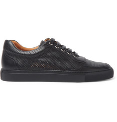 Harrys of London Mr Jones 2 Perforated Leather Sneakers