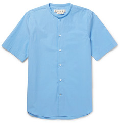 Marni Grandad-Collar Cotton-Poplin Shirt