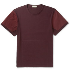 Marni Poplin-Panelled Cotton-Jersey T-Shirt