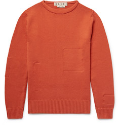 Marni Cotton-Appliquéd Wool Sweater