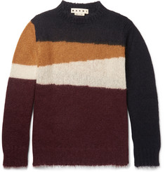 Marni Colour-Block Mohair-Blend Sweater