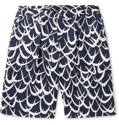 Marni Printed Cotton-Twill Shorts