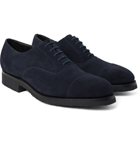 300 Suede Oxford Shoes - Blue