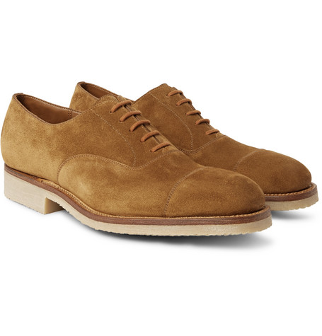 300 Suede Oxford Shoes by J.M. Weston