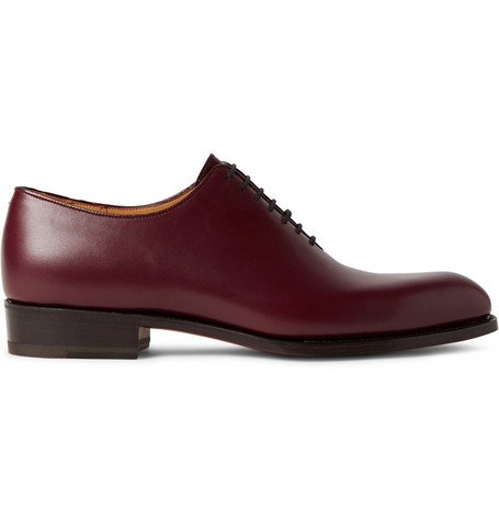 J.m. Weston 404 Claridge Whole-cut Leather Oxford Shoes In Burgundy