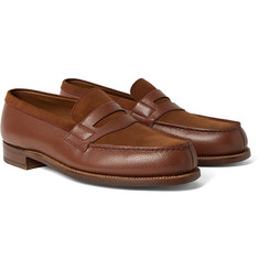 J.M. Weston - 180 The Moccasin Full-Grain Leather and Suede Penny Loafers