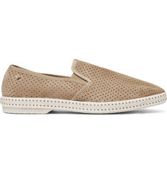 Rivieras Perforated Suede Espadrilles