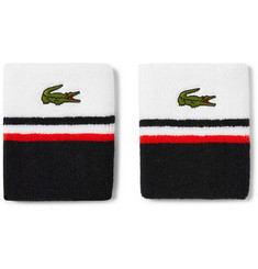 Lacoste Tennis - Appliquéd Stretch Cotton-Blend Terry Sweatbands
