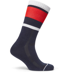 Lacoste Tennis - Striped Stretch Cotton-Blend Socks