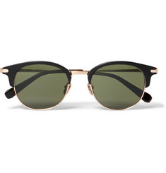 Brioni Round-Frame Acetate and Gold-Tone Metal Sunglasses