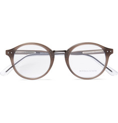 Bottega Veneta Round-Frame Acetate Optical Glasses
