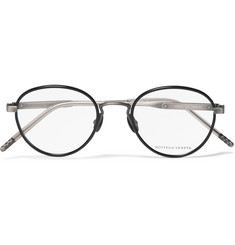 Bottega Veneta Round-Frame Acetate and Titanium Optical Glasses