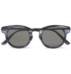 Bottega Veneta Round-Frame Acetate and Metal Sunglasses