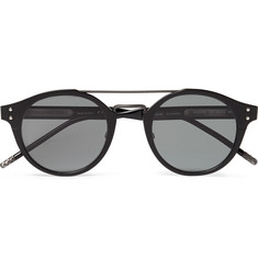 Bottega Veneta Aviator-Style Acetate and Gunmetal-Tone Sunglasses