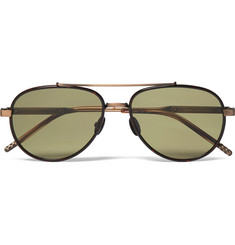 Bottega Veneta Aviator-Style Tortoiseshell Acetate and Titanium Sunglasses